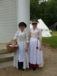 Our unit returning to camp from Saturday's battle. Redcoats and Rebels, OSV, This past weekend was Old Sturbridge Village 's 18th Century Dress, 18th Century Costume, 18th Century Clothing, 18th Century Fashion, Historical Costume, Historical Clothing, Sturbridge Village, Cotton Gowns, Dress Up Boxes