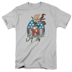 Supergirl Patriotic Hero Adult Grey T-Shirt from Warner Bros.: Unite with Supergirl to save the day. This t-shirt… #Movies #Films #DVD Video