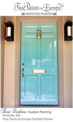 Teal Door Blue Front High Gloss Enamel Entrance