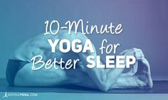 Having trouble falling asleep? If counting sheep doesn't work, give this 10-minute yoga sequence to help you sleep a shot! Get it all right here!