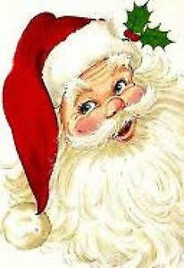 20 water slide nail art transfer old fashioned Santa 3/8 inch Trending