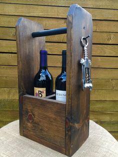 Rustic Wine Caddy
