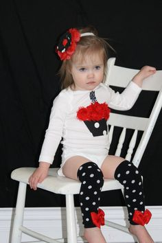 Red+and+Black+MINNIE+MOUSE+1st++birthday+onesie+by+KateGraceRose,+$25.00
