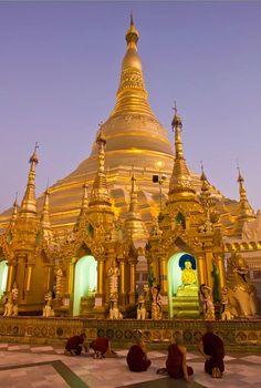 Stupa - Shwedagon Pagoda, Yangon, Myanmar