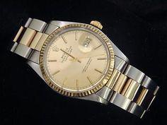 Rolex datejust watch oyster bracelet stick dial gents FG11