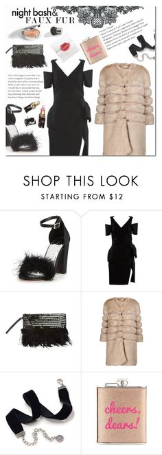 """""""Faux Fur Coat"""" by laurajanekatriina ❤ liked on Polyvore featuring Balenciaga, Miss Selfridge, Louis Vuitton, AINEA, Sweet Romance, Neiman Marcus and Christian Dior"""
