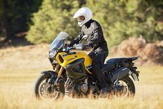 2016 Yamaha Super Tenere combines Yamaha's Dakar-bred toughness and reliability with easy handling and advanced rider assist technology in a strong package.