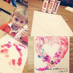An easy valentine craft for kids.