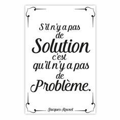 Stickers muraux citation Jacques Rouxel - Pas de problème