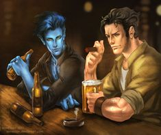 Kurt and Logan....and beer by annecain.deviantart.com on @deviantART