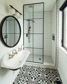 Home Remodel Bathroom .Home Remodel Bathroom Bathroom Renos, White Bathroom, Modern Bathroom, Small Bathroom Tiles, Glass Bathroom, Bathroom Interior Design, Home Interior, Decor Interior Design, Interior Livingroom