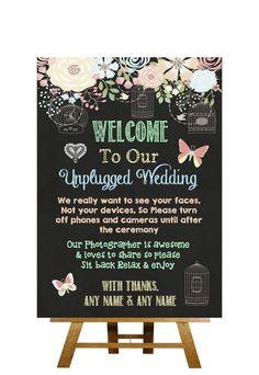 Wedding With Kids, Our Wedding, Dream Wedding, Wedding Ideas, Fun Wedding Favors, Wedding Decorations, Unplugged Wedding Sign, Wedding Signs, Storybook Wedding