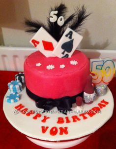 Coolest Poker Cake... This website is the Pinterest of birthday cake ideas
