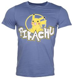 Mens Navy Pokemon Pikachu T-Shirt Ah, just look at this happy chappy! This graphic print Pikachu T-Shirt is an eye-popping way to appreciate Pokemons top yellow fella. http://www.MightGet.com/february-2017-3/mens-navy-pokemon-pikachu-t-shirt.asp