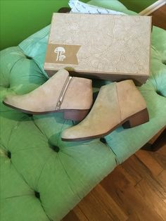 Size 9 booties by Qupid