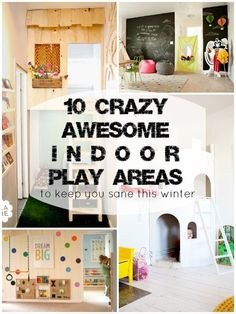 Awesome Indoor Play Areas for Kids | Remodelaholic.com #playroom #indoorfun: