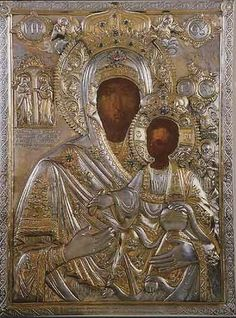 Agion Oros - Mount Athos: 0050 - The Miraculous Icon of Panagia Koukouzelissa - Holy Monastery of Great Lavra Religious Icons, Religious Art, Virgin Mary Painting, Russian Icons, Byzantine Art, Holy Mary, Found Art, Madonna And Child, Assemblage Art