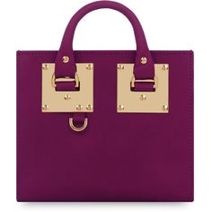 Sophie Hulme Box Albion Leather Tote Bag ($595) ❤ liked on Polyvore featuring bags, handbags, tote bags, handbags totes, plum, leather handbags, purple leather purse, zip top tote and man bag