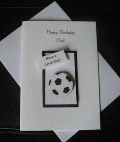 Personalised Birthday Card Football