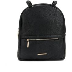 Kensie Faux Leather Convertible Backpack (€94) ❤ liked on Polyvore featuring bags, backpacks, black, faux leather rucksack, backpacks bags, shoulder strap backpack, pocket bag and convertible backpack