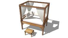 3D Model of Phuket, le lit outdoor Maisons du monde. Réf. 117.310 Prix: 1490 €