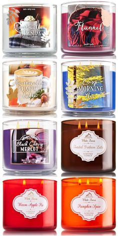 bath and body works fall 2016 candles