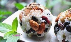 吃素食很時尚:健康堅果米飯團