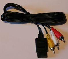AV Cinch Kabel für Super Nintendo+N64+Gamecube,Neu!