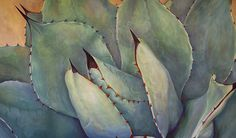 Prickly 2 Painting by Athena Mantle - Prickly 2 Fine Art Prints and Posters for Sale Cactus Images, Southwestern Art, Cactus Wall Art, Desert Art, Plant Painting, Thing 1, Cacti And Succulents, Succulents Painting, Desert Plants