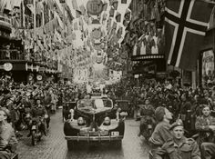 Norway's King Haakon VII's homecoming on 7 June 1945. Photo: Unknown / The Royal Court Archives