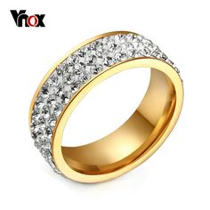 >> Click to Buy << 2017 New Arrival Hot Sale Cute  Jewelry Rings For Women Stainless Steel Promise Shiny Round Cz Inlaid For Female Gift  #Affiliate