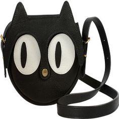 La Lisette Cat Leather Bag Black