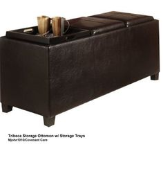 Storage footrest coffee table seat!