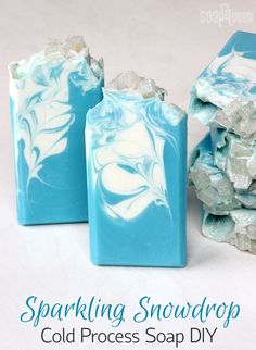 Sparkling Snowdrop Cold Process Soap DIY