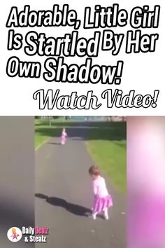 This adorable little girl is suddenly startled by her own shadow.   Watch the video! ==> https://www.dailyoffersandsteals.com/blogs/daily-offers-and-steals-blog/adorable-shadow-startles-little-girl