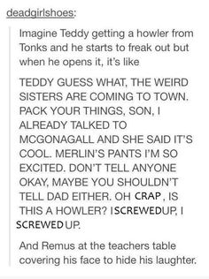 This Nymphadora Tonks headcanon, which is totally believable.