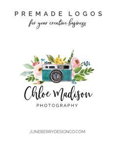 Blue Vintage Camera Logo Design for Photographers No. Photography Logos, Camera Photography, Chloe, Camera Logo, Shop Icon, Gold Logo, Shop Logo, Text Color, Signature Logo
