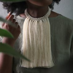 Handcrafted in a workshop in Mexico City, our cotton tassel jewellery range is inspired by the raw materials of nature. Each piece is lovingly made from raw cotton celebrating the beauty of raw, authentic creativity. Tassel Jewelry, Tassel Necklace, Accessories Shop, Celebrities, Beauty, Fashion, Moda, Celebs, Fashion Styles