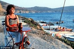 Pauline Collins - Shirley Valentine in Greece......  I envision myself here.....  top 3!