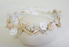 Beach Bridal TiaraWedding SeaShell HeadpieceSeashell by CyShell Seashell Crown, Shell Crowns, Bridal Tiara, Mermaid Hair, Wedding Accessories, Sea Shells, Headpiece, My Etsy Shop, Bridesmaid