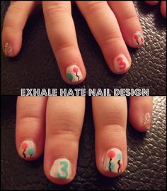 Sweet Pink Hello Kitty Nails On The Cutest Little Girl Gel Nail