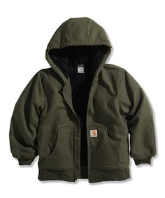 Take a look at this Green Duck Jacket - Boys on zulily today!