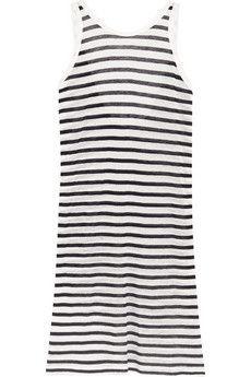 T by Alexander Wang Striped jersey dress | NET-A-PORTER
