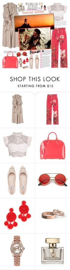 """Sunrise sunset..."" by purplecherryblossom ❤ liked on Polyvore featuring Gap, F.R.S For Restless Sleepers, Louis Vuitton, ZeroUV, Mochi, Rolex and Gucci"