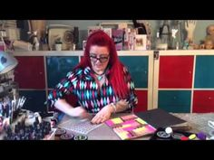 Dylusions Week | Dylusions Paint Block Technique | Ranger Ink and Innovative Craft Products