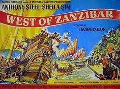WEST-OF-ZANZIBAR-1954-Anthony-Steel-Sheila-Sim-EALING-UK-QUAD-POSTER