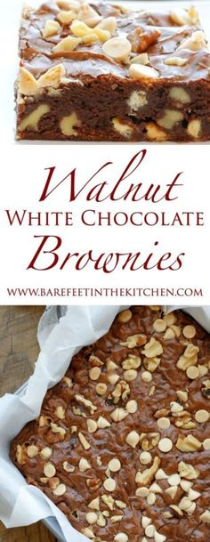 Walnut White Chocolate Chip Brownies are rich, chewy fudge brownies filled with an abundance of semi-sweet chocolate, white chocolate, and walnuts! These brownies were a hit with my whole family. We ate...