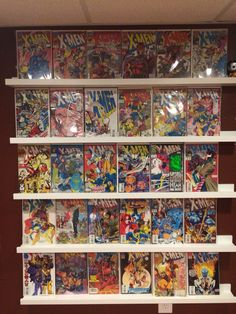 Ikea Ribba picture ledges make great comic book display shelves!