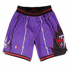 Mitchell and Ness 98-99 Toronto Raptors Mens Shorts in Purple  http://allstarsportsfan.com/product/mitchell-and-ness-98-99-toronto-raptors-mens-shorts-in-purple/  100% poly textured mesh Knit rib waistband Cotton drawstring at inner waistband
