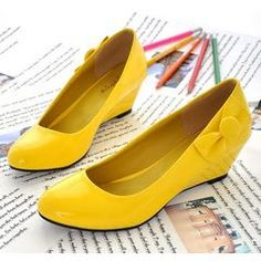 2012 Fashion Shiny Star Black/White/Yellow/Red/Pink Slope Shoes for R264.00